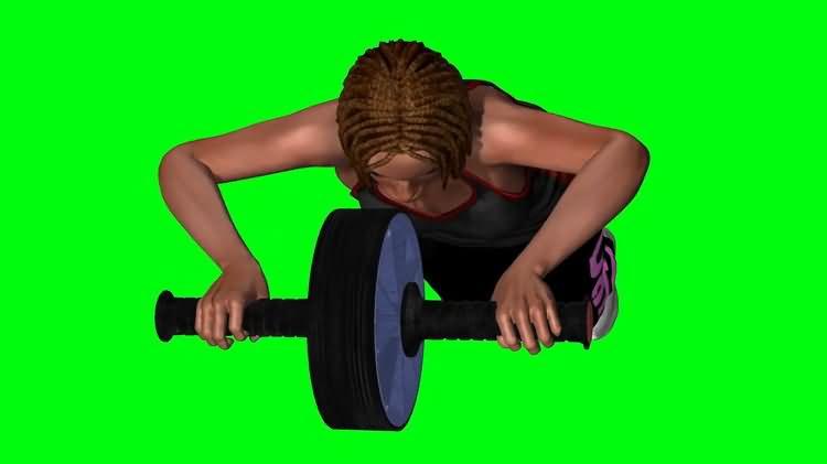 绿屏抠像做健腹轮的女子.jpg