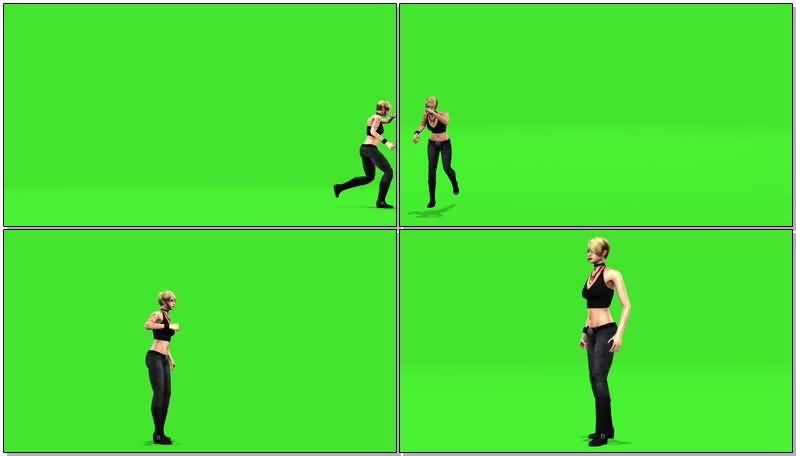绿屏抠像电影人物莎拉