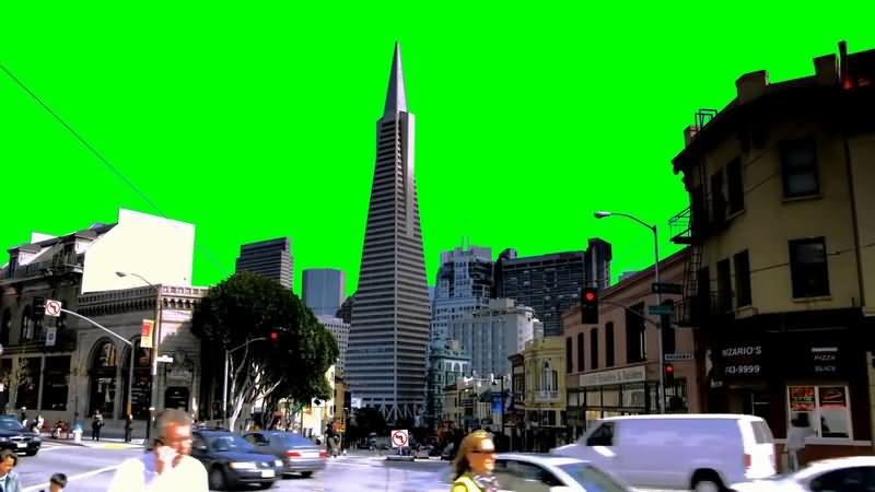 绿屏抠像车辆人群涌动的城市.jpg