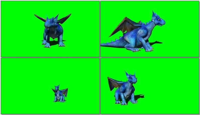 绿屏抠像可爱的蓝色怪兽.jpg
