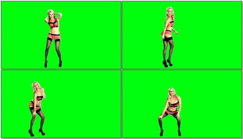 绿屏抠像黑丝比基尼跳舞的美女.jpg
