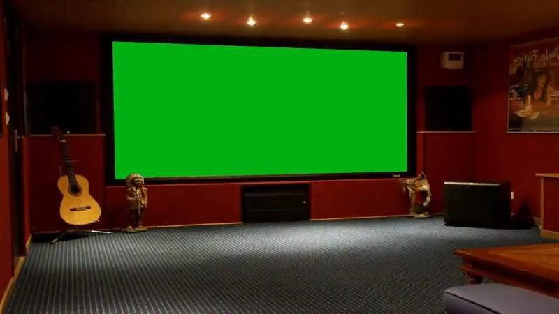 绿屏抠像KTV包箱大屏幕视频素材