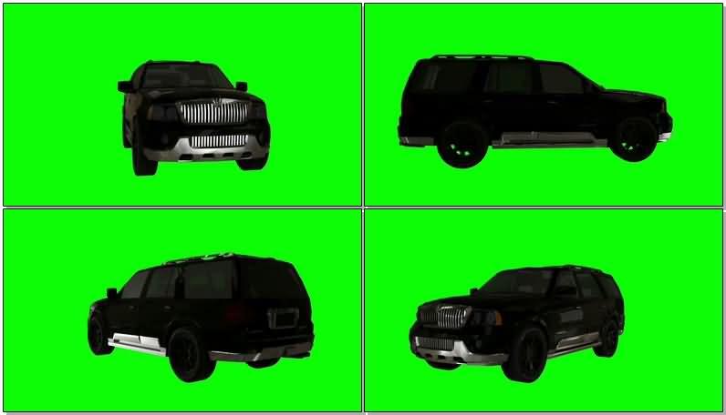 绿屏抠像黑色林肯汽车.jpg