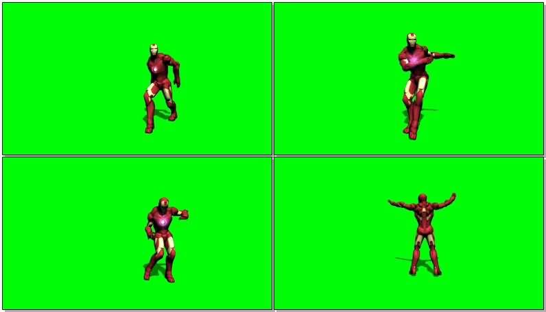 高清,视频素材,绿屏,绿布,绿幕,抠像,影视,后期,钢铁侠,跳舞,舞蹈