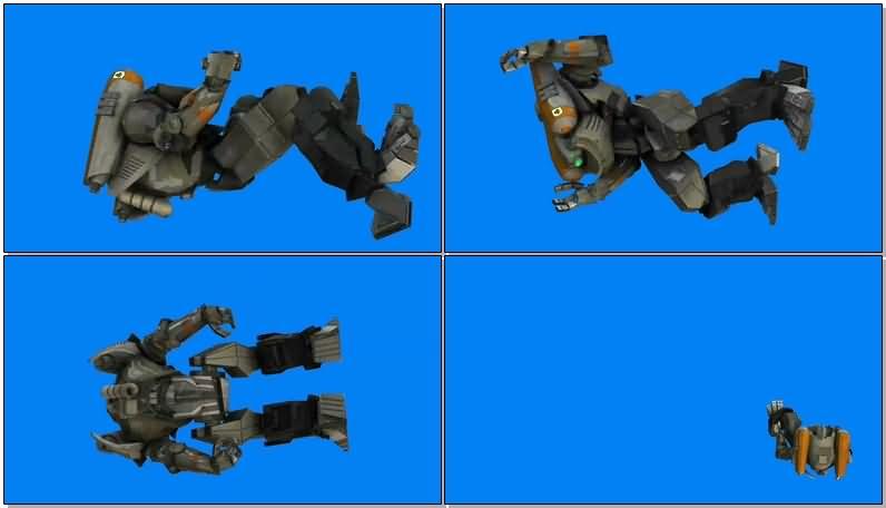 绿屏抠像地平线勇士机甲机器人视频素材