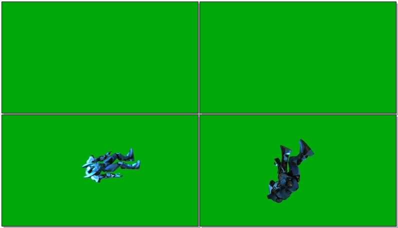 绿屏抠像十一月阿贾克斯机甲机器人视频素材