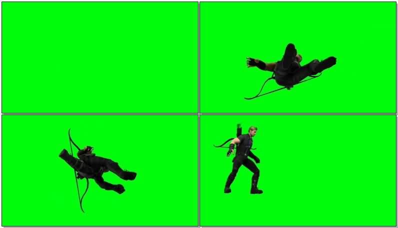 绿屏抠像复仇者联盟鹰眼视频素材