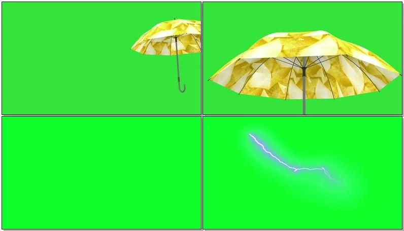 绿屏抠像大雨里的黄伞.jpg