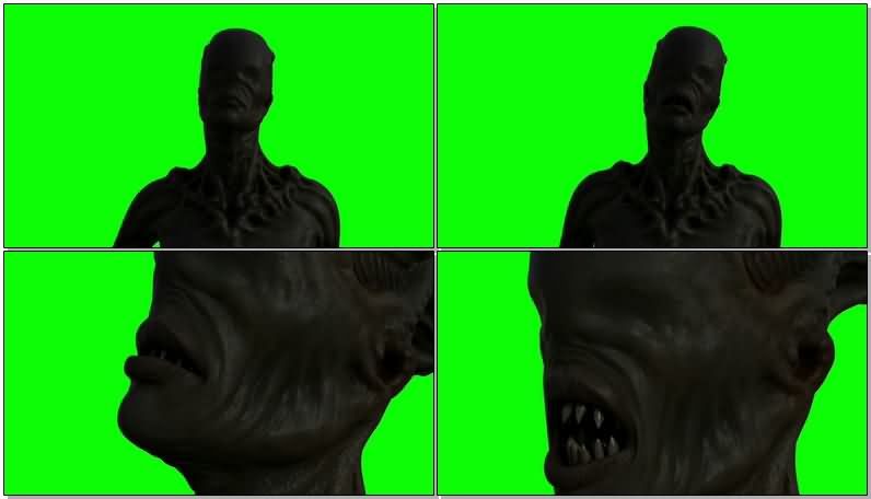 绿屏抠像牙齿很尖的怪物视频素材