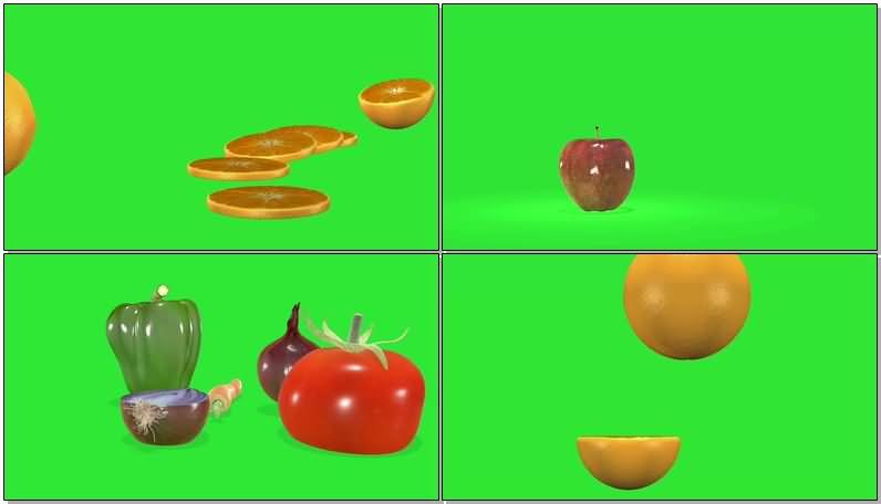 绿屏抠像各类水果蔬菜视频素材