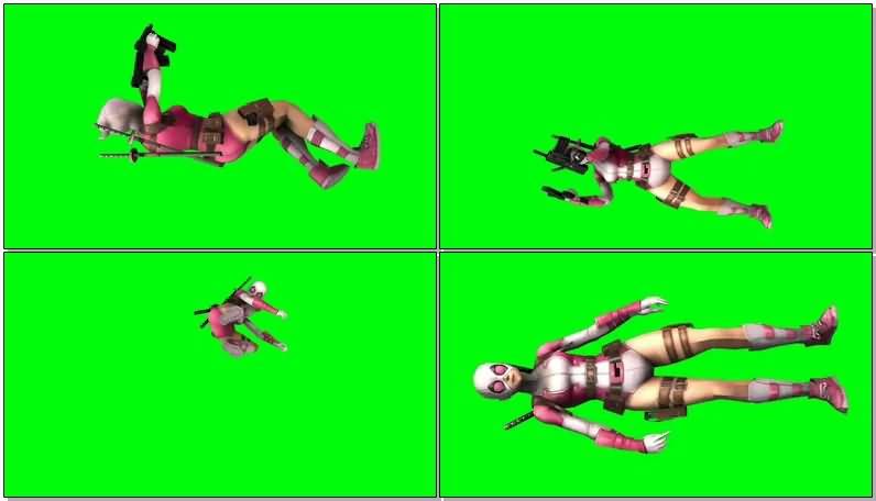 绿屏抠像漫威人物格温侍视频素材