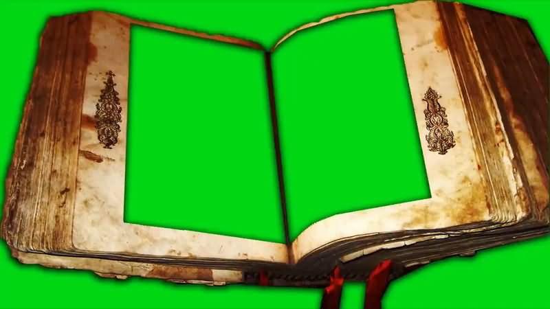 绿屏抠像破旧的古书.jpg