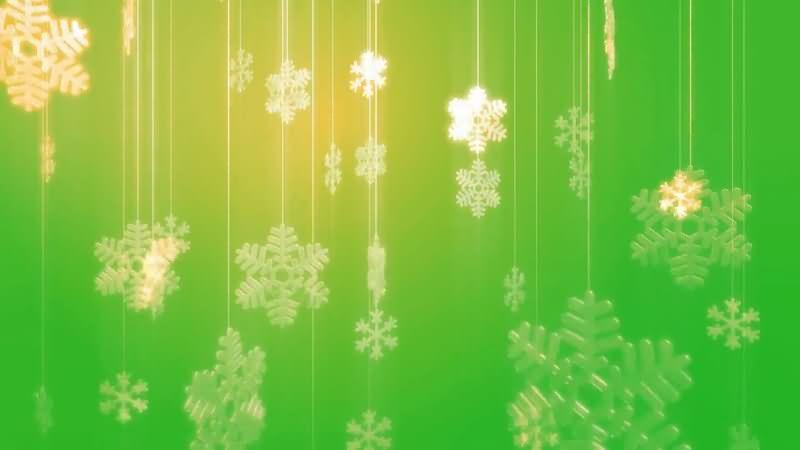 绿屏抠像闪光的雪花挂饰品.jpg