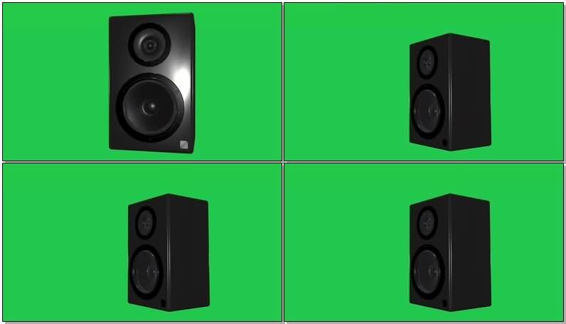 绿屏抠像黑色的音箱震动的鼓膜.jpg