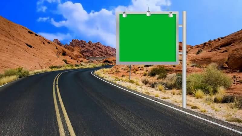 绿屏抠像高速公路上的提示牌.jpg