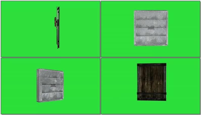 绿屏抠像各种被破坏的大门.jpg