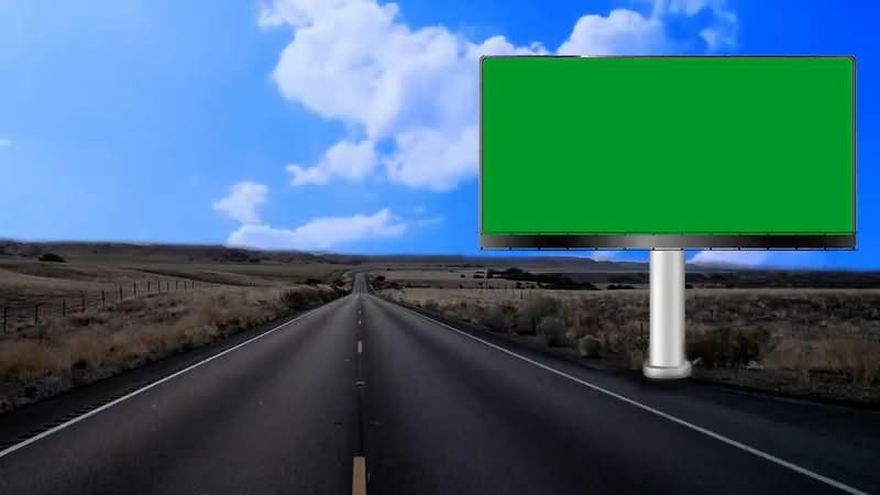 绿屏抠像高速公路上的大型显示器.jpg