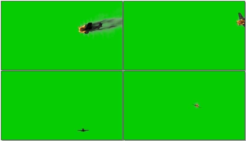 绿屏抠像空中坠毁的飞机.jpg