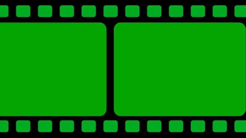 绿屏抠像电影胶带视频素材