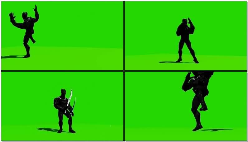 绿屏抠像漫威人物黑豹视频素材