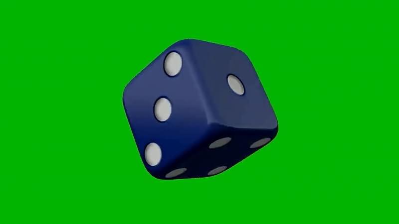 绿屏抠像旋转的蓝色骰子.jpg