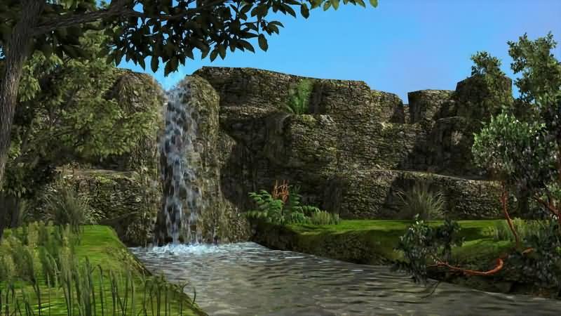 高山流水瀑布小溪片头背景.jpg