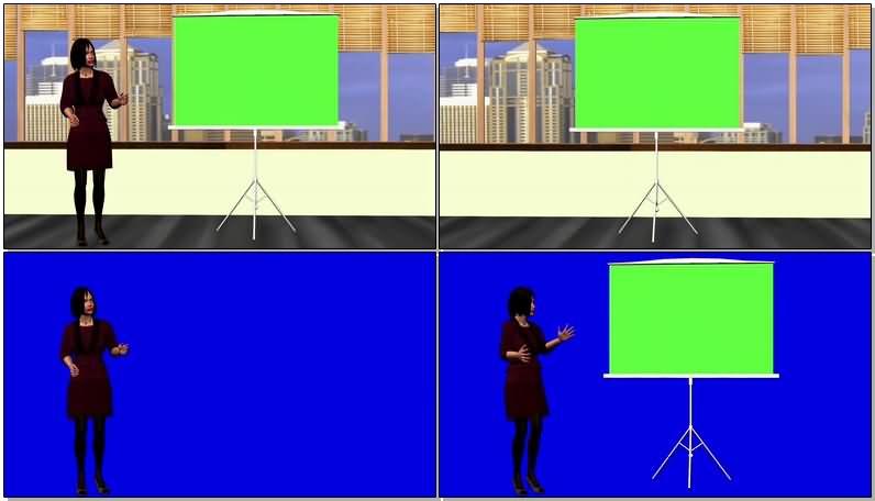 绿屏抠像在白板前讲演的女推销员.jpg