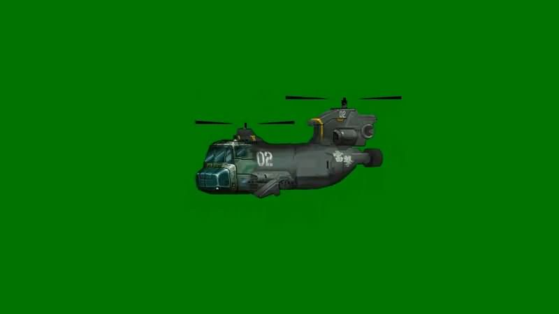 绿屏抠像卡通3D运输飞机.jpg