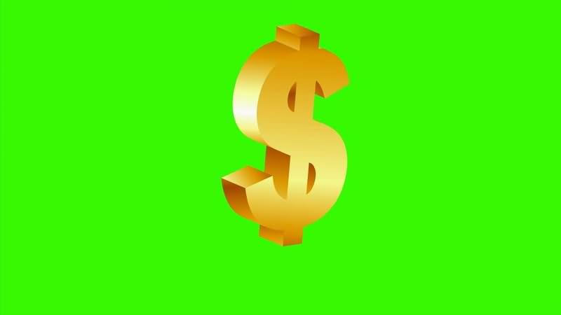 绿屏抠像金色的美元标志.jpg