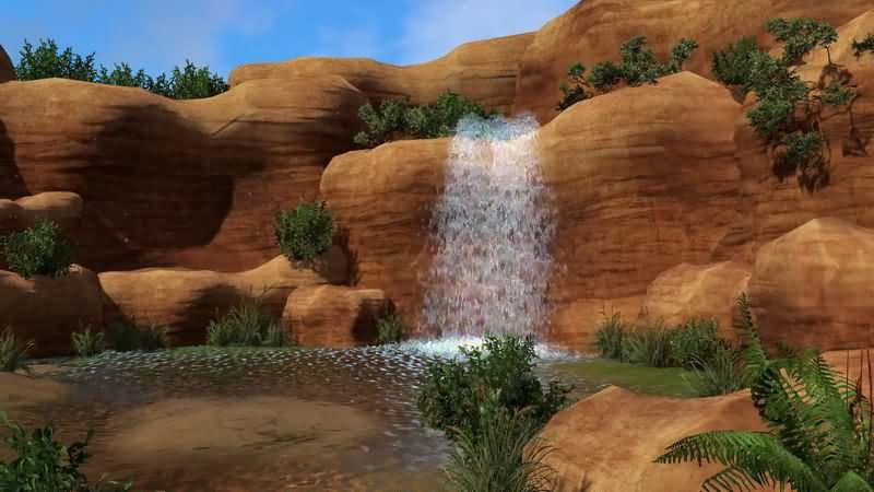 动画3D高山瀑布溪水.jpg