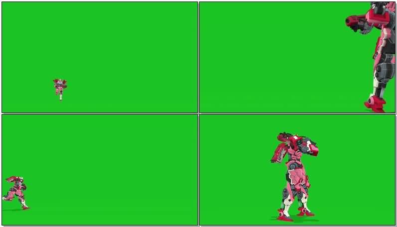 绿屏抠像粉红色女机器人.jpg