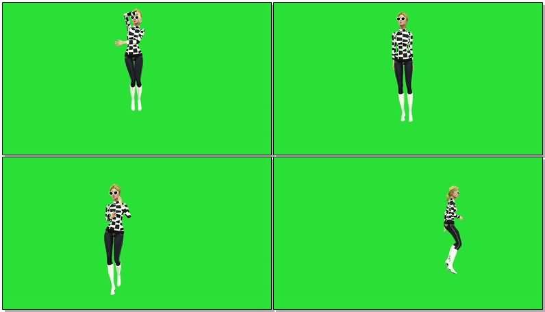 绿屏抠像跳舞的卡通女孩.jpg