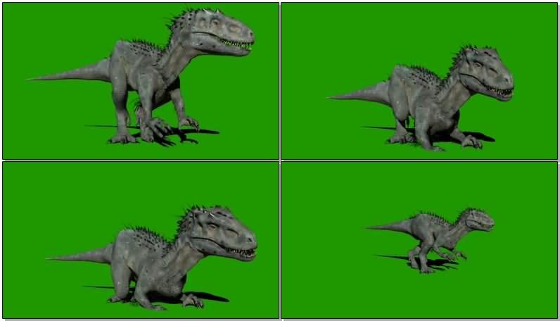 绿屏抠像侏罗纪世界暴虐龙视频素材