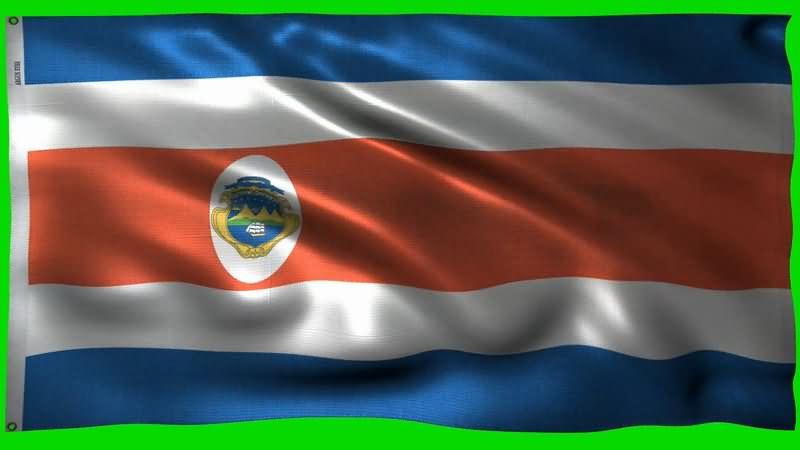 绿屏抠像飘扬的哥斯达黎加国旗.jpg