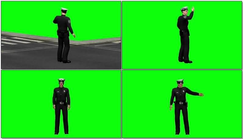 绿屏抠像指挥交通的警察.jpg
