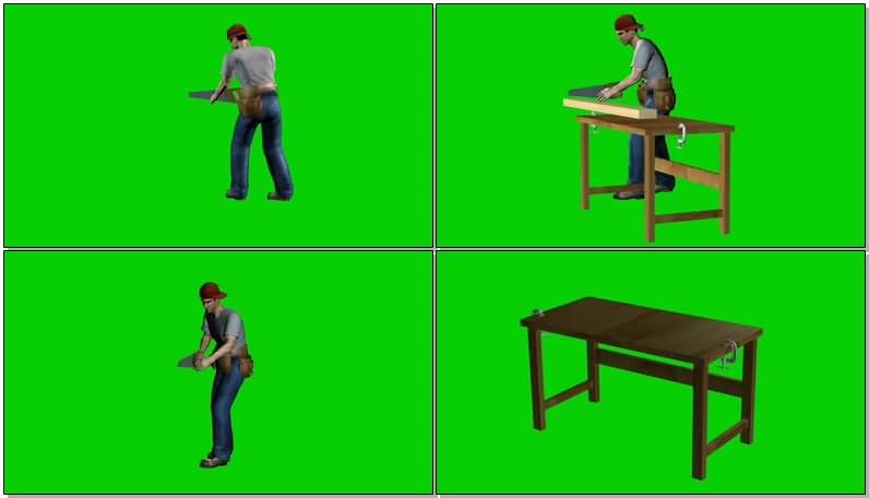 绿屏抠像锯木头的工人.jpg