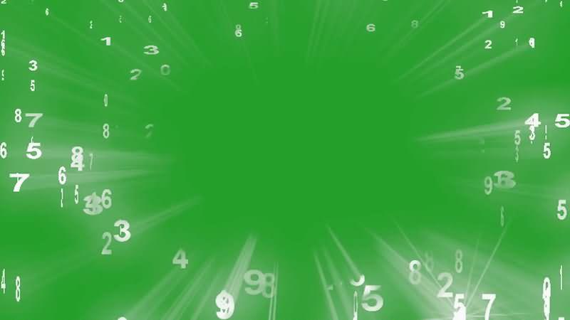 绿屏抠像掉落的数字雨视频素材