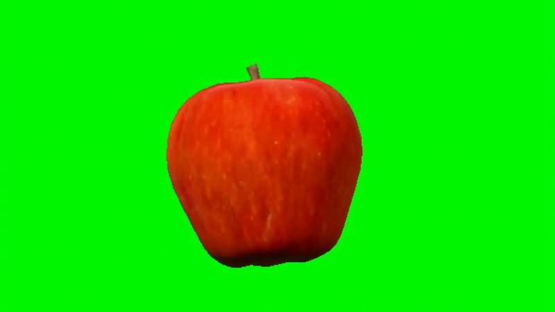 绿屏抠像旋转的红色苹果.jpg