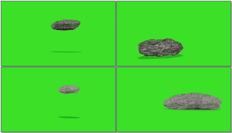 绿屏抠像掉落摔碎的石头石块.jpg