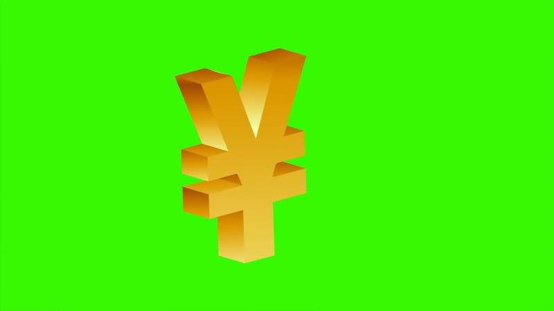 [4K]绿屏抠像人民币标志符号.jpg