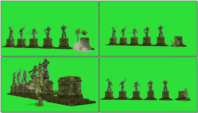 绿屏抠像爱斯基摩雕像.jpg