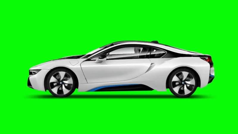 绿屏抠像白色宝马汽车.jpg