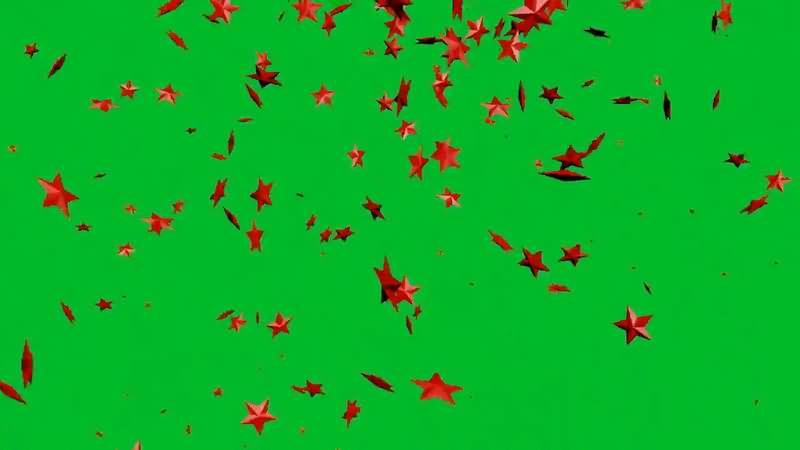 绿屏抠像飘落的五角星..jpg