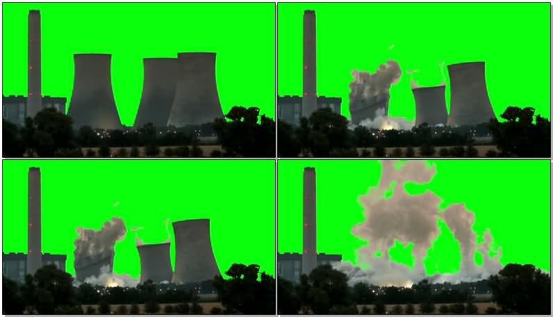 绿屏抠像倒塌的工厂大烟筒.jpg