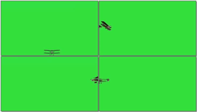 绿屏抠像老式双翼飞机.jpg