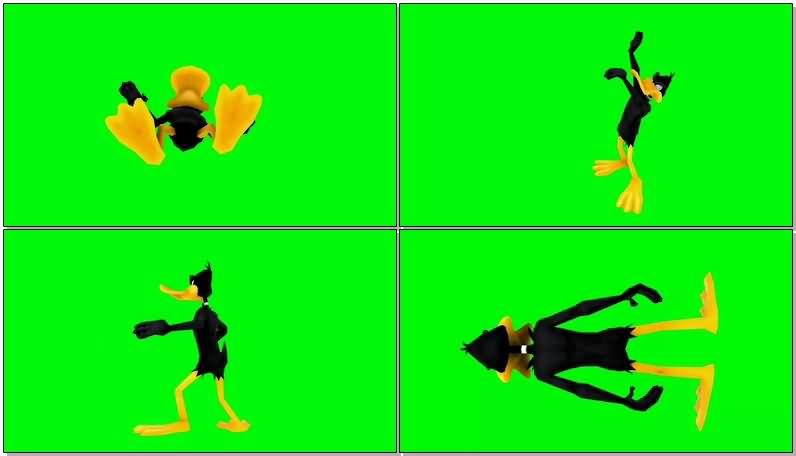 绿屏抠像卡通人物达菲鸭.jpg