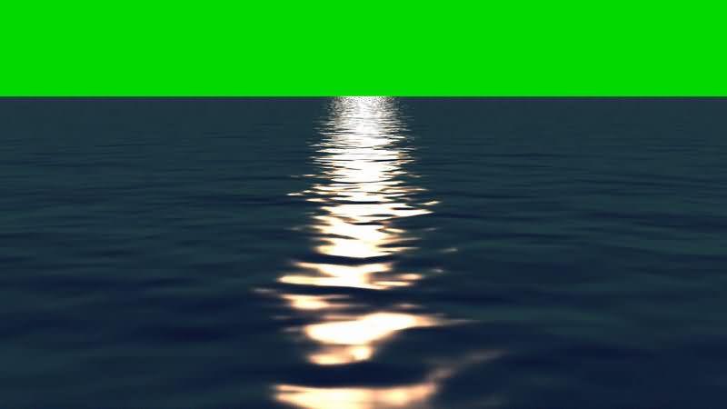 [4K]绿屏抠像海面倒映的日光.jpg