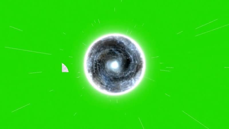绿屏抠像黑洞漩涡视频素材