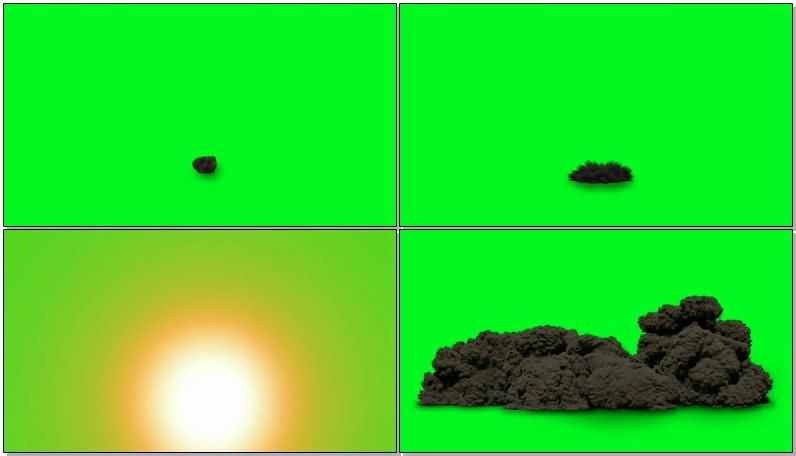 绿屏抠像各种爆炸烟雾效果视频素材