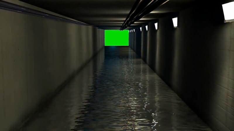 绿屏抠像黑暗的下水道.jpg